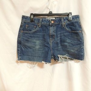 Levis womens cut off  jeans shorts 12